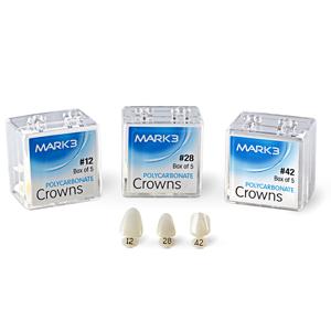 Polycarbonate Crowns 5/pk - MARK3 - Dental Supplies